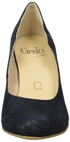 Caprice con Tacco Suede Donna Scarpe 22406 Blu Ocean BHwxqrBvFn