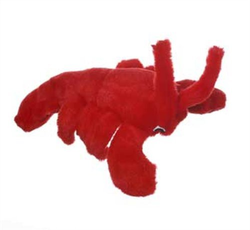 Multipet's Look Who's Talking Plush Lobster Dog Toy, 7.5-Inch, My Pet Supplies