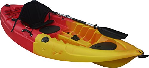 BKH. UH-FK184 9'2″ Sit on Top Single Fishing Kayak Seat And Paddle included