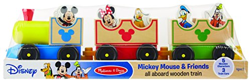 Train Wooden Doug (Melissa & Doug Disney Baby Mickey Mouse and Friends All Aboard Wooden Train Toy With 3 Train Cars and 5 Characters)