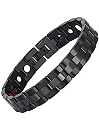 Quality Wristband Bracelet Mens Magnetic Health Therapy Bracelet Pain Relief Arthritis Stainless Steel Bracelet Adjustable Bracelet