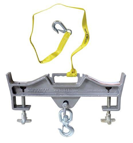 Vestil D-FORK-10-SL Double Fork Attachment Swivel Hook, 5-5/8