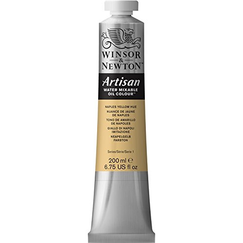 Winsor & Newton Artisan Water Mixable Oil Colour Paint, 200ml tube, Naples Yellow Hue