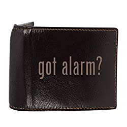 #alarm - Genuine Engraved Hashtag Soft Cowhide Bifold Leather Wallet