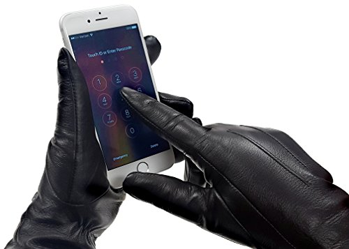 Most Popular MoDA Women's Ms. D.C. Chic Touchscreen Texting Warm Winter Genuine Leather Gloves