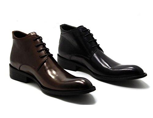 Herren Lederschuhe Herren Lederschuhe British Business spitzen Stil Lederstiefel Herrenschuhe ( Farbe : Schwarz , größe : EU43/UK8 ) Schwarz
