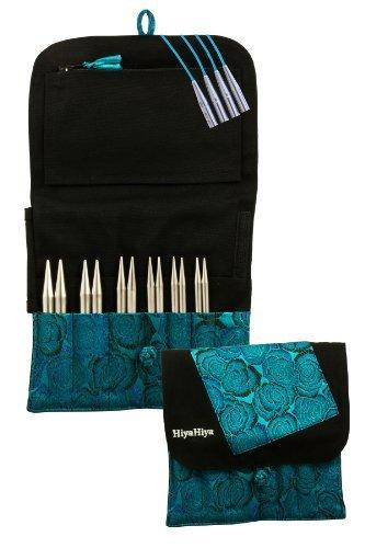 HiyaHiya Interchangeable 5-inch (13cm) Sharp Steel Knitting Needle Set; Large Tip Sizes (US 9-15) HISSTINKIT5LG