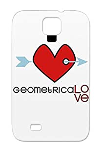 Kiss Boyfriend Girlfriend Love Day Hearts Valentine Geo Geometrical Girlfriend. Valentines Geolove Red For Sumsang Galaxy S4 Case Cover