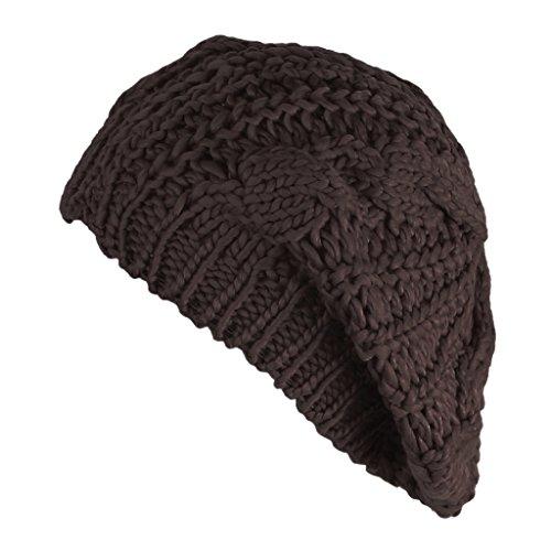 MIOIM Womens Winter Warm Beanie Hat Knitted Crochet Slouchy Baggy Beret Skull Cap (Beret New Crochet)