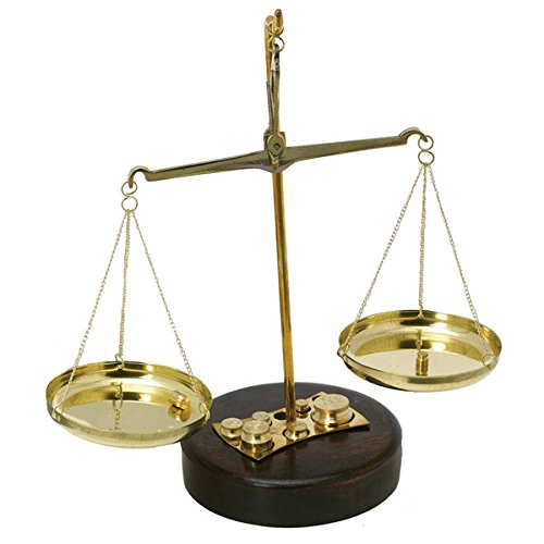 Brass Weighing Scale Balance Justice Law Scale Decoration by Gimmick World