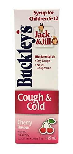 Syrup Cherry Childrens (BUCKLEY'S Jack & Jill Children's 'COUGH & COLD' Syrup 115 ml (3.88 fl oz) Cherry Flavour)