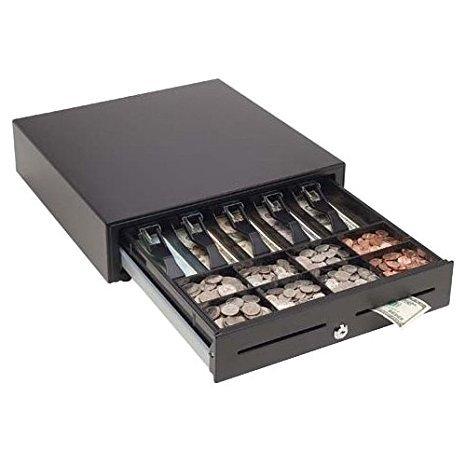 Mmf Cash Drawer MMF-VL1616E-04 MMF Val-U Line Electronic Cash Drawer, 5 BILL/8 Coin Till, PRINTER-Driven, 16.2'' W x 16.4'' D x 4'' H, 24 V, black by MMF Cash Drawer