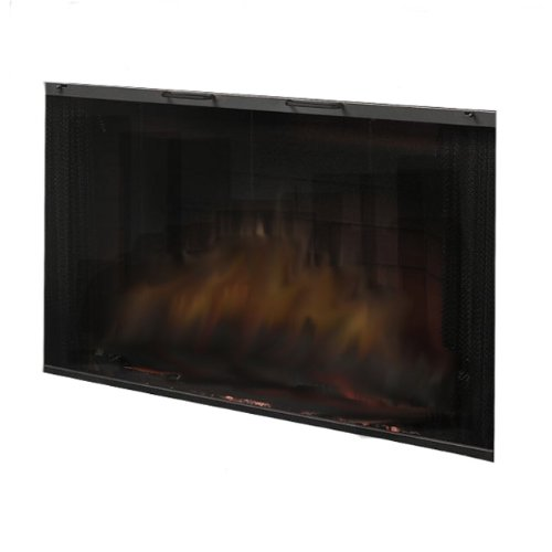 Black Glass Door for Built-In Electric Firebox - Firebox Siz