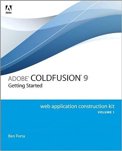 Adobe coldfusion 9 web application construction kit, volume 1.