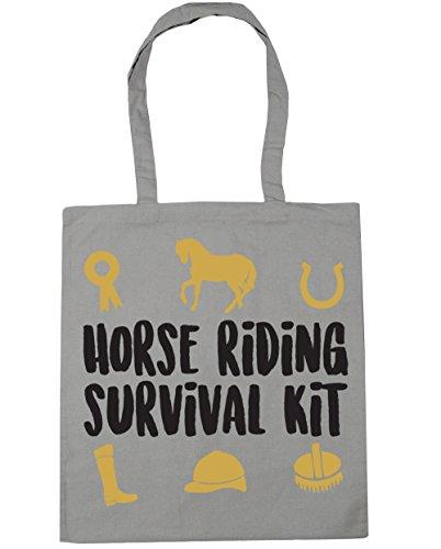 HippoWarehouse equitación Kit de supervivencia bolsa de la compra bolsa de playa 42cm x38cm, 10litros gris claro