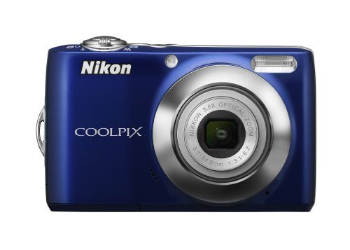 - Nikon Coolpix L22 12 MP Digital Camera with 3.6x Optical Zoom and 3.0-Inch LCD (Blue)