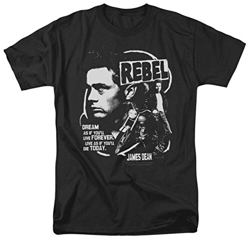 James Dean Men's Rebel Cover Classic T-shirt Medium Black - Cause Rebel T-shirt