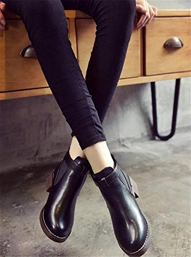 de Casual Boots Eu Hebillas Shoes Heel' S Short PU 'S SED Mujer Zapatos 37 R5qwpggS