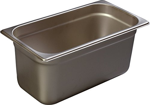 Carlisle 608136 DuraPan Heavy 22-Gauge 18-8 Stainless Steel Third-Size Food Pan, 8.1 qt. Capacity, 6-7/8 x 12-3/4 x 6 inch (Case of 6)