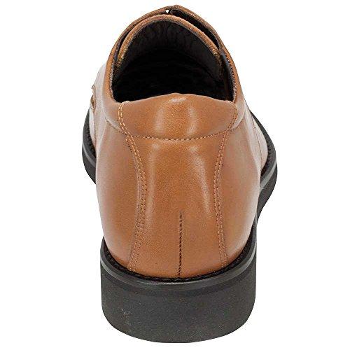 cm Modelo Masaltos Aumentan de EN Que Roma Piel 7 Hasta con Zapatos Marron Fabricados Hombre Altura Alzas 6qpv6