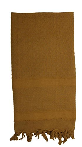 Rothco Solid Color Shemagh-Tactical Desert Scarf, Coyote