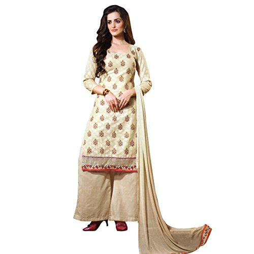 Designer Elegant Embroidered Cotton Salwar Kameez Readymade Indian (Pakistani Designer Shalwar Kameez)