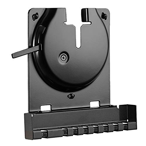 (Sanus Wall Mount for Sonos Amp - Slim Black Design with Lockable Latch for Security - Low Profile Bracket Design Mounts in Any Orientation - Built-in Cable Management & Easy 15-Minute Install)
