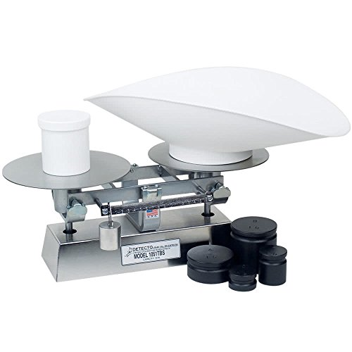 TableTop King 1052TBSKG 5 kg. Stainless Steel Baker's Dough Scale with Scoop - 500 g x 5 g Beam Grads - Commercial Grade Bakers Tabletop