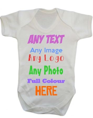 Any name text image picture logo personalised custom baby grow any name text image picture logo personalised custom baby grow vest bodysuit onesie negle