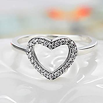 ed3647885 Image Unavailable. Image not available for. Color: MAGA 1 New Silver Color  Heart Shape My Valentine Pandora ...