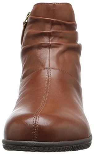Softwalk Hanover Damen Rund Leder Stiefel Cognac