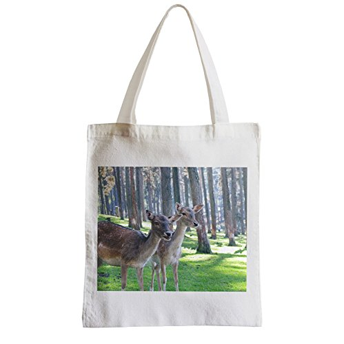 Große Tasche Sack Einkaufsbummel Strand Schüler nett Hirsche Doe im Wald