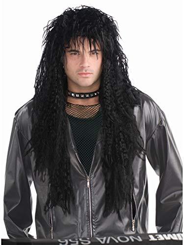 Forum Novelties Men's 80's Hard Rocker Wig, Black, One Size