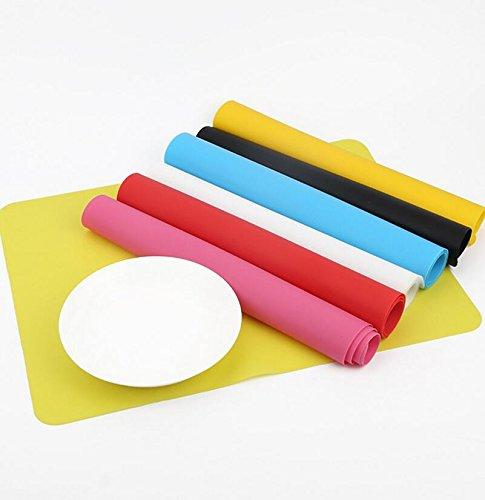 Multicolor Stillshine Silicone Placemats Tableware Set for Kids//Toddler//Children//Baby light blue