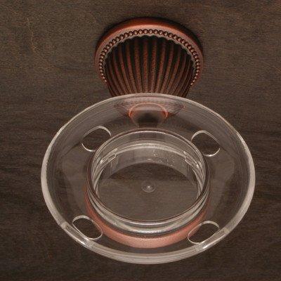 Beaded Base Tumbler Holder - BE Series Beaded Bell Base Tumbler Holder Finish: Distressed Copper