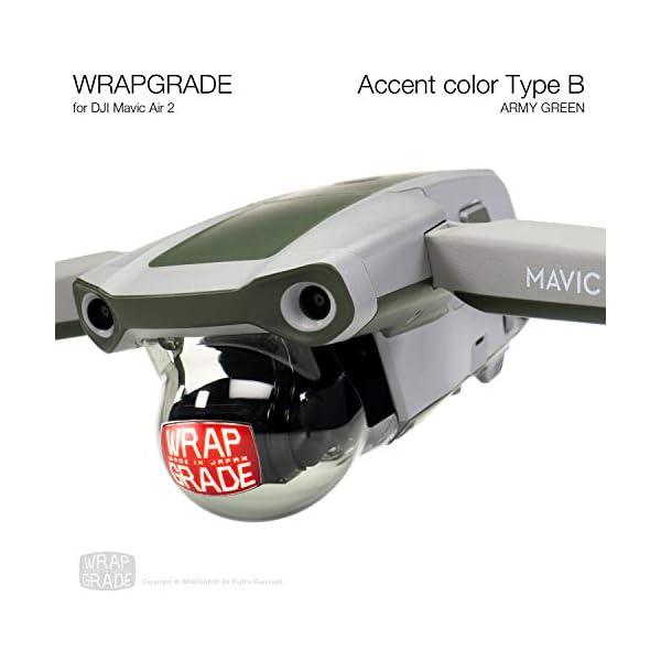 WRAPGRADE Skin Compatibile con DJI Mavic Air 2 | Accent Color B (Army Green) 5 spesavip