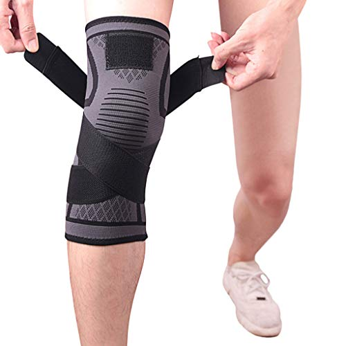 SMyFone Compression Sports Knee Pad Knee Strap for Protector Leg Sleeve,Unisex Breathable Knee Support Antislip for Basketball,Running, Jumper, Tennis,Hiking,Climbing Kneepad