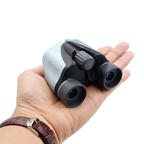QNIGLO 6X18 Kids Binoculars Toys for 3-12 Years Old Kids Folding Compact High Resolution Real Optics Binoculars Set for Bird Watching Outdoor Sport Games Best Birthday Gifts for Boys Girls(Blue)