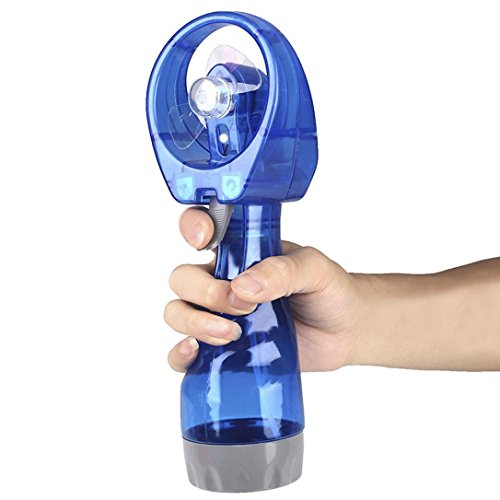IKevan 280ML 1 x Mini Hand Held Spray Cooling Water Spray Fan(Summer Must-Have) (Blue)
