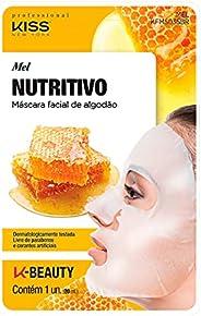 Kiss NY Professional Máscara Facial de Algodão- Mel, Kiss New York Professional