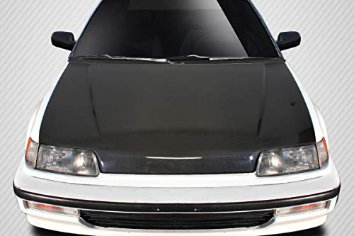 Carbon Creations Replacement for 1988-1991 Honda Civic HB CR-X JDM OEM Look Hood - 1 Piece