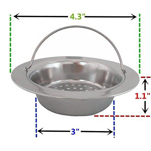 Aottop stainless steel kitchen sink strainer large wide - Kitchen sink rim ...