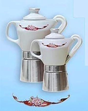 dise/ño de Final certificada Mary 55 y oro Sirge Cafetera Moka 4 tazas de porcelana