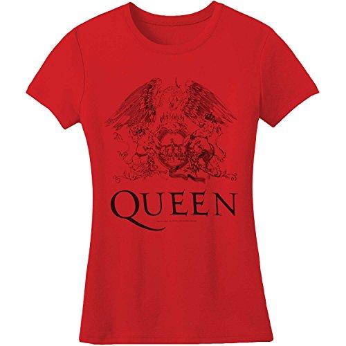 Bravado Queen Logo Red Juniors T-Shirt - T-shirt Juniors Queen