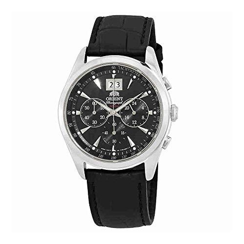 Classic Chronograph Black Dial - Orient Classic Chronograph Black Dial Mens Watch FTV01004B