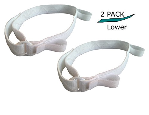 (Catheter Leg Bag Strap - Lower- Large- 2 Pack - Secure Comfort: Urinary Catheter Leg Band, Silicone Non Slip Backing; Soft, Adjustable, Elastic, Hook and Loop Closure Holds Bottom of Bag)