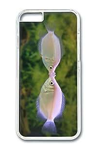 iPhone 6 Case, Custom Design Covers for iPhone 6 PC Transparent Case - Kiss Fish