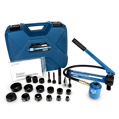 TEMCo Hydraulic Knockout Punch TH0004 - Electrical Conduit Hole Cutter Set KO Tool Kit 5 YEAR WARRANTY (Conduit Punch)