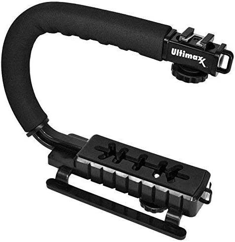 Ultimaxx Stabilizing Handheld Stabilizer Handle Grip with Accessory Mount for Camera