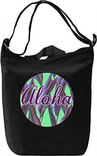 Aloha Borsa Giornaliera Canvas Canvas Day Bag| 100% Premium Cotton Canvas| DTG Printing|
